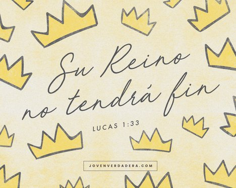 Lucas 1:33 desktop wallpaper
